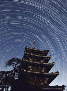 香林寺と星の軌跡