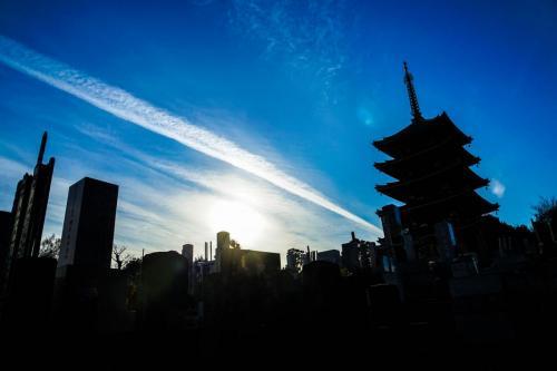 A066 冬の夕暮れ 本田 誠 香林寺 2020/12/26