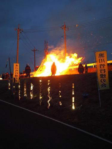 A004 せいの神と竹行燈 上原 幹生 黒川東農園 2020/01/12