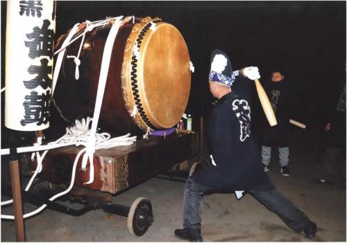 A221 正月一番太鼓 輿水 邦夫 黒川 汁守神社 2020/01/01